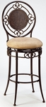 Richland Metal 30'' Bar Height Stool with Buckskin Faux Suede Swivel Seat - Black Gold [4667-830-FS-HILL]