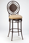 Richland Metal 26'' Counter Height Stool with Buckskin Faux Suede Swivel Seat - Black Gold [4667-826-FS-HILL]