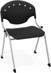 Rico 300lb. Capacity Stack Chair with 17.75'' Seat Height - Black [305-P0-MFO]