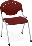 Rico 300lb. Capacity Stack Chair with 17.75'' Seat Height - Burgundy [305-P17-MFO]