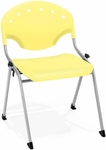 Rico 300lb. Capacity Stack Chair with 17.75'' Seat Height - Lemon Yellow [305-P23-MFO]