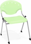 Rico 300lb. Capacity Stack Chair with 17.75'' Seat Height - Lime Green [305-P52-MFO]