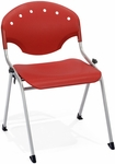 Rico 300lb. Capacity Stack Chair with 17.75'' Seat Height - Red [305-P1-MFO]
