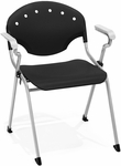 Rico 300lb. Capacity Stack Chair with Arms and 17.50'' Seat Height - Black [306-P0-MFO]