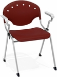 Rico 300lb. Capacity Stack Chair with Arms and 17.50'' Seat Height - Burgundy [306-P17-MFO]