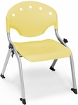 Rico 300lb. Capacity Student Stack Chair with 12'' Seat Height - Lemon Yellow [305-12-P23-MFO]