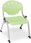 Rico 300lb. Capacity Student Stack Chair with 12'' Seat Height - Lime Green [305-12-P52-MFO]