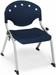 Rico 300lb. Capacity Student Stack Chair with 12'' Seat Height - Navy [305-12-P46-MFO]