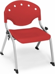 Rico 300lb. Capacity Student Stack Chair with 12'' Seat Height - Red [305-12-P1-MFO]