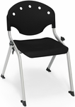 Rico 300lb. Capacity Student Stack Chair with 14'' Seat Height - Black [305-14-P0-MFO]