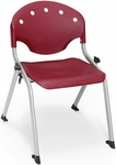 Rico 300lb. Capacity Student Stack Chair with 14'' Seat Height - Burgundy [305-14-P17-MFO]