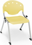 Rico 300lb. Capacity Student Stack Chair with 14'' Seat Height - Lemon Yellow [305-14-P23-MFO]