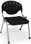 Rico 300lb. Capacity Student Stack Chair with 16'' Seat Height - Black [305-16-P0-MFO]