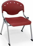 Rico 300lb. Capacity Student Stack Chair with 16'' Seat Height - Burgundy [305-16-P17-MFO]