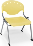 Rico 300lb. Capacity Student Stack Chair with 16'' Seat Height - Lemon Yellow [305-16-P23-MFO]