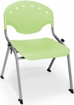 Rico 300lb. Capacity Student Stack Chair with 16'' Seat Height - Lime Green [305-16-P52-MFO]