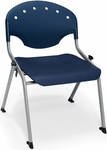Rico 300lb. Capacity Student Stack Chair with 16'' Seat Height - Navy [305-16-P46-MFO]
