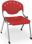 Rico 300lb. Capacity Student Stack Chair with 16'' Seat Height - Red [305-16-P1-MFO]