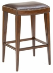 Riverton Wood 31'' Bar Height Backless Stool with Brown Vinyl Seat - Rustic Cherry [4659-830-FS-HILL]