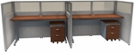 Rize Panel 2 Privacy Station Units 47'' H x 60'' W Translucent Polycarbonate Top - Gray Vinyl with Cherry Finish [T1X2-4760-PGGC-MFO]