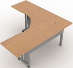 72'' x 72'' L-Shapped Workstation with 30'' D Top- Maple [55224-MPL-FS-MFO]