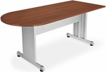 30'' D x 60'' W Peninsula Desk - Cherry Finish [55144-CHY-SLV-FS-MFO]