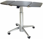 Runner Sit to Stand 26.5''H to 44.5''H Adjustable Small Table - Shark Grey [RNR-6-6005-FS-WOR]