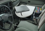 RoadMaster Truck Auto Desk with Built In 200 Watt Inverter - Gray [ROADTRUCKSUPER-01-FS-AUT]