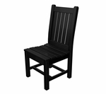 POLYWOOD® Rockford Collection Dining Chair - Black [RKC19BL-FS-PD]