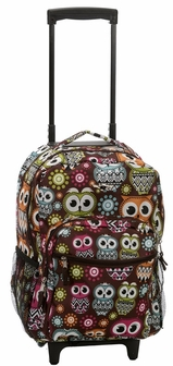 Rockland 17'' Rolling Backpack in Owl, R01-OWL by Fox Luggage ...