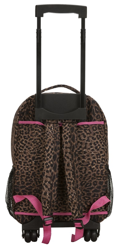 Rockland 17'' Rolling Backpack in Pink Leopard, R01-PINKLEOPARD by ...