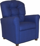 Kids Recliner with Button Tufted Back - Rodeo Blue [400-RODEO-BLUE-FS-BZ]