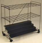 32'' H Rolling File Cart with 36 Openings - Black [RF36BLK-FS-MAY]