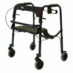 Lightweight Folding Rollite Rollator - 16.5'' -20.5''H [65100-JR-FS-CARE]