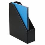 Rolodex Wood Tones Magazine File,  3 1/2''W x 10 1/4''D x 11 3/4''H,  Black [ROL62536-FS-NAT]