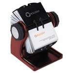 Rolodex™ Wood Tones Open Rotary Business Card File Holds 400 2 5/8 x 4 Cards - Mahogany [ROL1734242-FS-NAT]