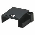 Rolodex Wood Tones Phone Center Desk Stand,  12 1/8''W x 10''D,  Black [ROL62538-FS-NAT]