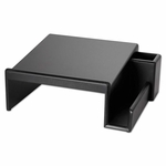 Rolodex™ Wood Tones Phone Center Desk Stand - 12 1/8 x 10 - Black [ROL62538-FS-NAT]