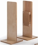Birch Laminate Room Divider Straight Post with Durable Construction [WB1116-FS-WBR]