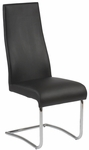 Rooney High Back Side Chair in Black (Set of 2) [17226BLK-FS-ERS]