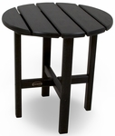 POLYWOOD® Round 18'' Side Table - Black [RST18BL-FS-PD]
