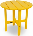 POLYWOOD® Round 18'' Side Table - Vibrant Lemon [RST18LE-FS-PD]