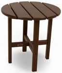 POLYWOOD® Round 18'' Side Table - Mahogany [RST18MA-FS-PD]