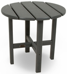 POLYWOOD® Round 18'' Side Table - Slate Grey [RST18GY-FS-PD]