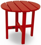 POLYWOOD® Round 18'' Side Table - Vibrant Sunset Red [RST18SR-FS-PD]