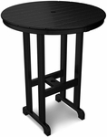 POLYWOOD® Round 36'' Bar Table - Black [RBT236BL-FS-PD]