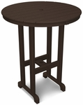 POLYWOOD® Round 36'' Bar Table - Mahogany [RBT236MA-FS-PD]