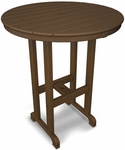 POLYWOOD® Round 36'' Bar Table - Teak [RBT236TE-FS-PD]