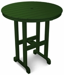 POLYWOOD® Round 36'' Counter Table - Green [RRT236GR-FS-PD]