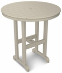 POLYWOOD® Round 36'' Counter Table - Sand [RRT236SA-FS-PD]